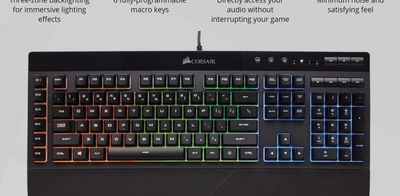 Detailed: the Corsair K55 RGB Keyboard
