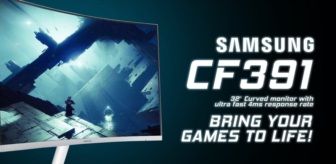Bring Your Games To Life With The 32'' Samsung Monitor!