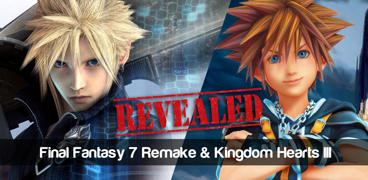 Revealed: Final Fantasy 7 Remake & Kingdom Hearts III images