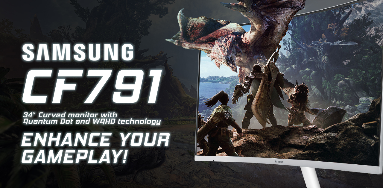 Enhance Your Gameplay With Samsung's 34'' Titan