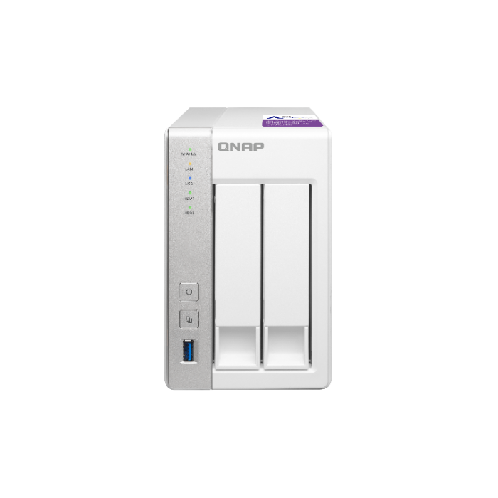 QNAP TS-231P NAS Storage (2-Bay Personal Cloud NAS with DLNA, Mobile