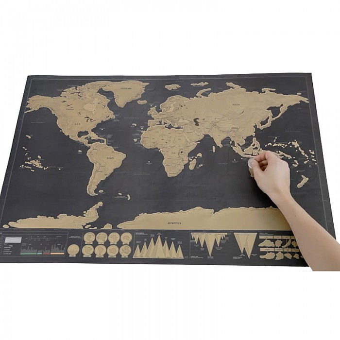 Scratch off world map deluxe edition game hypermart scratch off world map deluxe edition gumiabroncs Image collections
