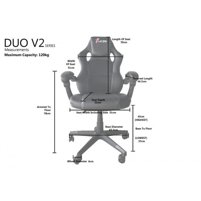 Outstanding Ttracing Duo V2 Grey Gaming Chair Onthecornerstone Fun Painted Chair Ideas Images Onthecornerstoneorg